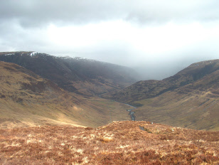 The Parallel Roads of Glen Roy from Bohuntin Hill